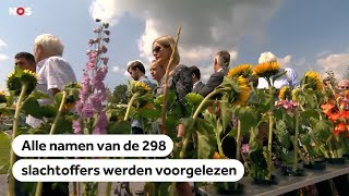MH17: Nabestaanden herdenken slachtoffers, vijf jaar na vliegramp