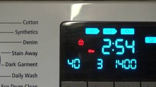 How to: Activate and Deactivate Child lock on Samsung Ecobubble Washing Machine.