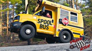 TWIN TURBO SCHOOL BUS DOES WHEELIES! - DEATHWISH EP9