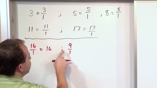 Lesson 16 - Writing Whole Numbers As Fractions - (5th Grade Math)
