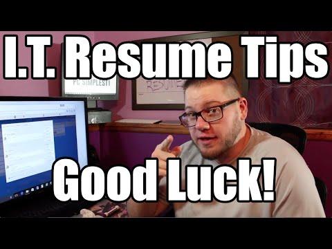 Resume Tips for I.T. Jobs