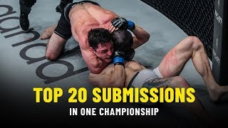 Top 20 Submissions In ONE Championship | ONE Highlights