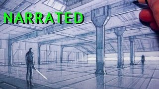 How to Draw Interior Spaces: 2-Point Perspective [Star Wars Fan Art]