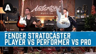 Fender Stratocaster: Player Vs Performer Vs Professional - What Are The Differences?