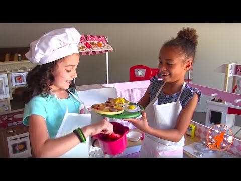Kidcraft Toy Kitchen Playsets & Toy Cutting Velcro Food - Kids Pretend Cooking, Toy Kitchens #1