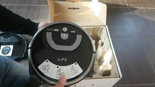 ILIFE W400 Floor Washing Robot Unboxing, Test