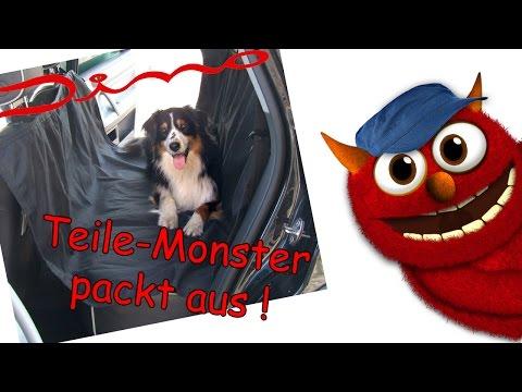 DINO universelle Autoschondecke - die Hundedecke für die Rückbank
