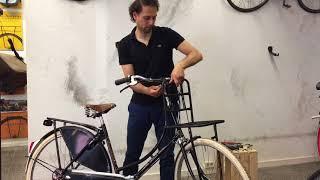 Wie montiere ich einen Frontträger für Gazelle Hollandrad