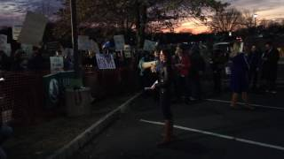 Protesters chant, sing and rant outside GOP Rep. Lance's town hall meeting