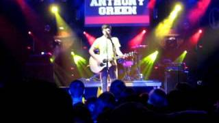 Blood Song - Anthony Green (Live) (New song)