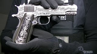 WE 1911 FLORAL ENGRAVED MEHICO DRUGLORD MEXICO GAS BLOWBACK AIRSOFT PISTOL