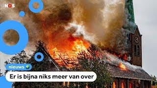 Grote brand in kerk, kerk gedeeltelijk ingestort