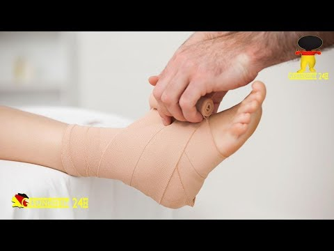 Die Thrombose tiefer Venen des rechten Beines
