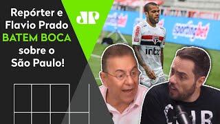 Flavio Prado e repórter batem boca: 'Se o São Paulo perder esse título, vai ser vergonhoso'