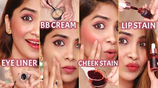 मैंने घर में बनाये Makeup Products- Gel Eyeliner, Lip & Cheek Stain, BB Cream, Blush, Setting Powder