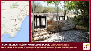 preview picture of video '3 dormitorios 1 baño Vivienda de pueblo se Vende en Lubrin, Almeria, Spain'