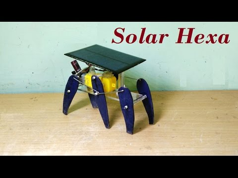 how to make a solar powered six legged robot - DIY Robot
