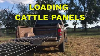 HOW TO LOAD A CATTLE PANEL IN A PICKUP TRUCK