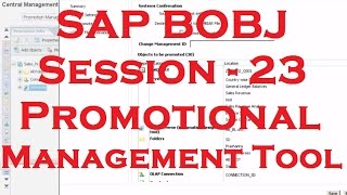 Promotion Management Tool - SAP Business Objects Tutorial (BOBJ) 4.0 - Session - 23