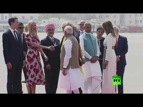 العرب اليوم - شاهد: إيفانكا ترامب ضمن وفد استقبال والدها في الهند