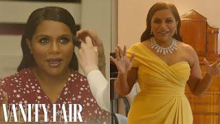 Behind Mindy Kalings Oscars Look, From Makeup To Last Looks   Camera Ready   Vanity Fair
