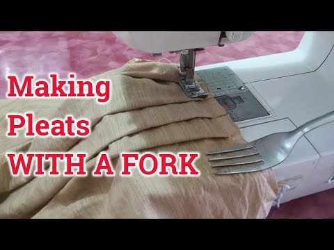How To Make Pleats With a Fork | Easy DIY of Sewing Pleats With Fork, Sewing Salwar Pleats With Fork