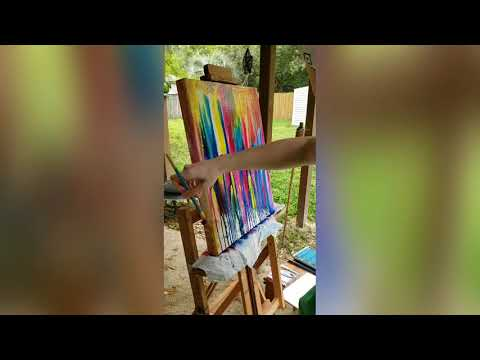 Intuitive Painting Session by Kelsey Proffitt
