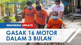 Pelaku Pencurian Spesialis Sepeda Motor Dibekuk Polisi, 3 Bulan Gasak 16 Motor di 10 Lokasi di Jatim