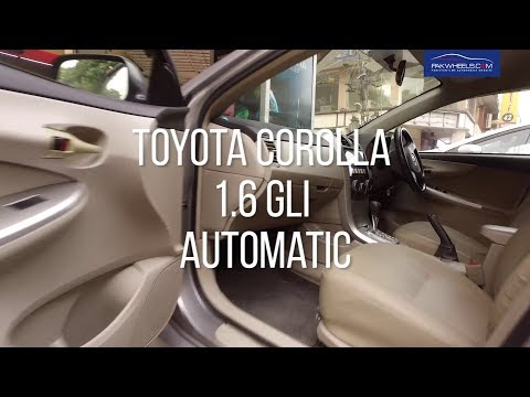 Toyota Corolla Gli 1.6 Automatic 2012 - Owner's Review