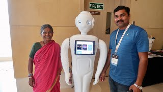 Gangavva talks at Tech For Good Summit 2019 | My Village Show Vlogs #47