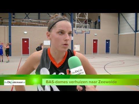 VIDEO | Basketbaldames van BAS zijn noodgedwongen verhuisd naar Zeewolde