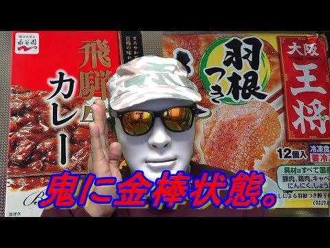 大阪王将羽根つき餃子と飛騨牛カレーの紹介です。