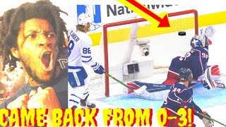 ICE HOCKEY REACTION MAPLE LEAFS VS BLUE JACKETS NHL HIGHLIGHTS NHL PLAYOFFS 2020