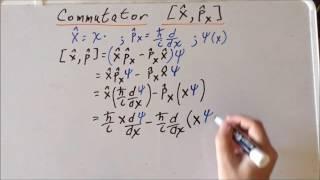 Commutator - Linear Momentum and Position