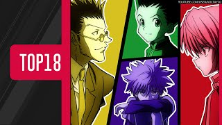 TOP18: Openings/Endings de HUNTER×HUNTER