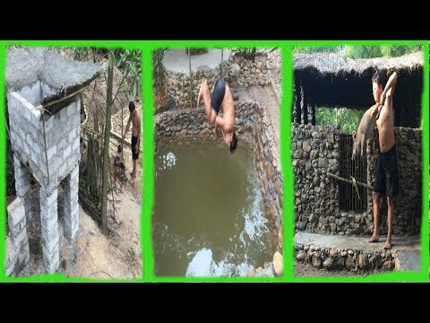 Primitive Life:Ancient Concrete-Pool and Pigsty!Next months in the forest!