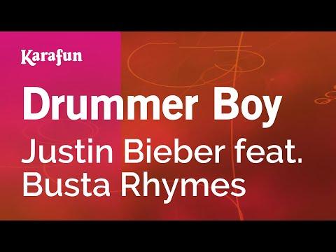 Drummer Boy - Justin Bieber feat. Busta Rhymes   Karaoke Version   KaraFun