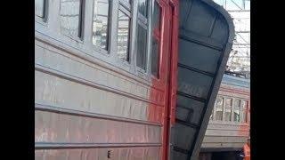 Столкновение поездов на Курском вокзале