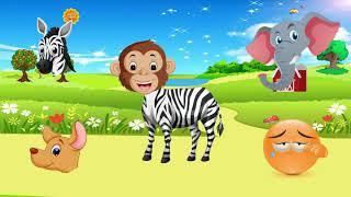 звуки животных для самых маленьких |  развивающие для детей как говорят | животные с alien dance #77