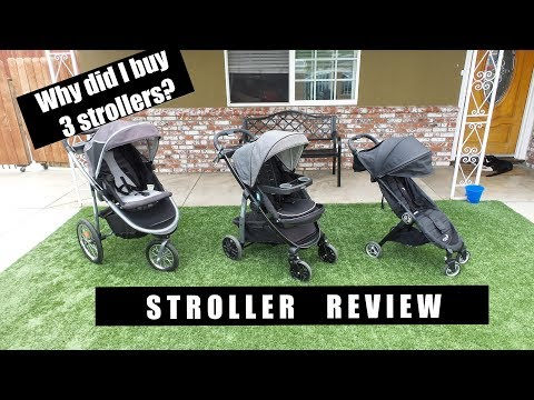 STROLLER REVIEW: Comparing Graco modes LX | Graco fast action | City tour by baby jogger