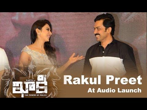 Rakul Preet Singh At Khakee Movie Audio Launch Event