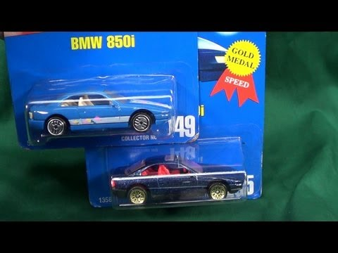 Hot Wheels BMW 850i All Blue Card #149 From 1991