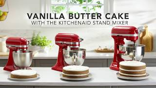 Vanilla Butter Cake Recipe With The KitchenAid® Stand Mixer