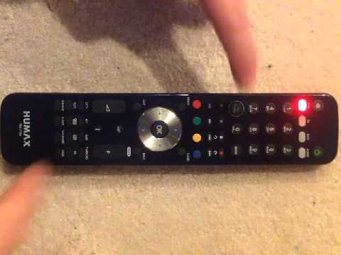 Humax Remote Control Handset RM-F04 - how to get into control channel change mode
