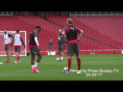 Arsenal Full Training Session Pre Arsenal Vs Chelsea Community Shield 2017