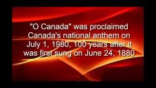O Canada - National Anthem with lyrics in English and French