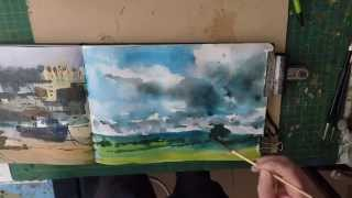 How To Paint Rain Clouds In Watercolour