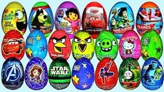 36 Surprise eggs Disney Cars Sofia Dora the Explorer Toy Story Kinder Surprise