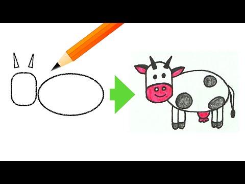 Учимся рисовать животных. Рисование для детей видео