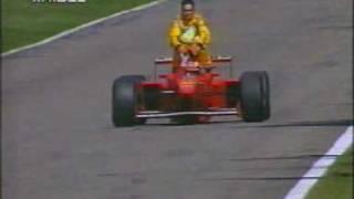 M Schumacher gives Fisichella a ride home 1997 Germany Hockenheim taxi